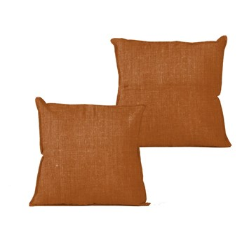 Pomarańczowa poduszka Linen Couture Terracota, 45x45 cm