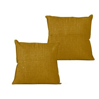 Musztardowa poduszka Linen Couture Mustard, 45x45 cm