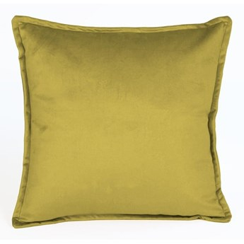Żółta aksamitna poduszka Velvet Atelier Tercio , 45x45 cm