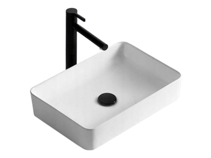 VELDMAN UMYWALKA CUBIC SLIM CIENKIE KRAWĘDZIE Nablatowe Szerokość 49 cm Meblowe Ceramika Prostokątne Kategoria Umywalki