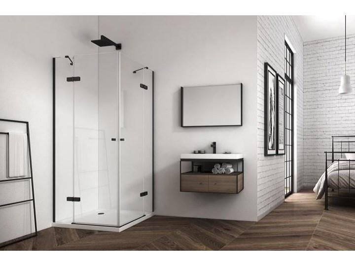 KABINA NEVADA DUO 6 MM CZARNE PROFILE ROZMIAR DO WYBORU Kwadratowa Kategoria Kabiny prysznicowe Wysokość 195 cm Kolor Przezroczysty