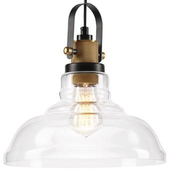 MATEO Lampa wisząca 1-punktowa transparentne szkło/patyna