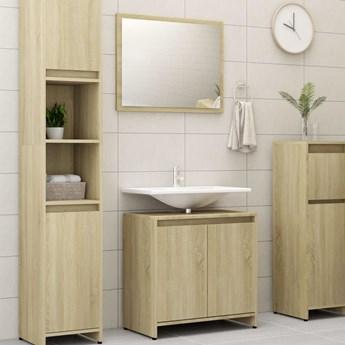 vidaXL 4-częściowy zestaw mebli łazienkowych, dąb sonoma, płyta
