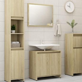 vidaXL 3-częściowy zestaw mebli łazienkowych, dąb sonoma, płyta