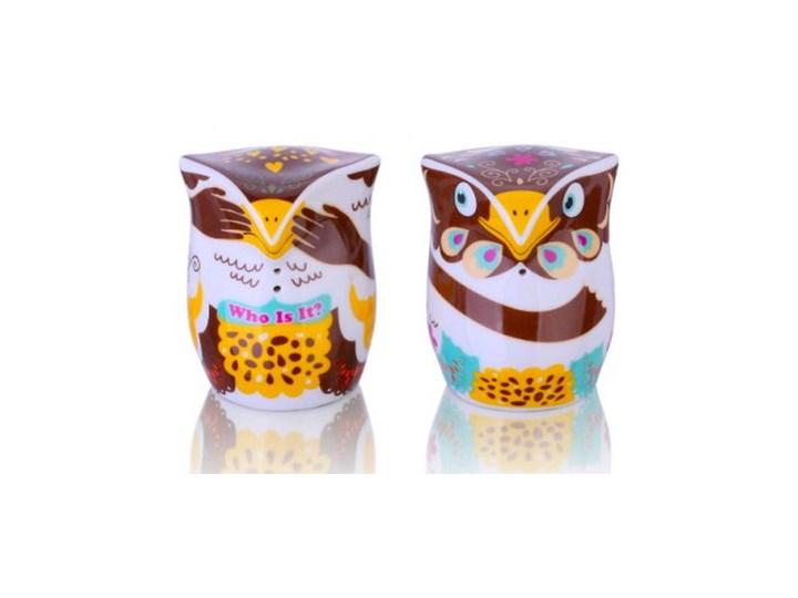 Porcelana solniczka i pieprzniczka - Sówki A Kuku