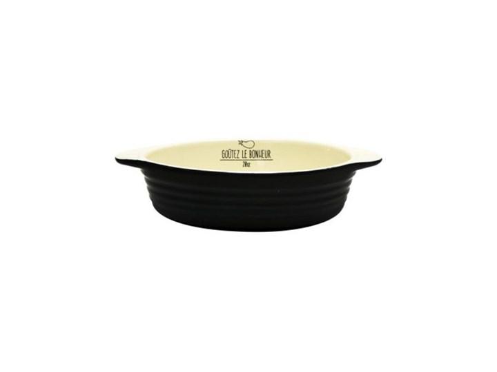 Black&Cream forma do zapiekania Ceramika Naczynie do zapiekania Kolor Czarny