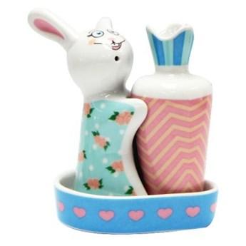 Porcelanowa solniczka i pieprzniczka - Słodki Królik
