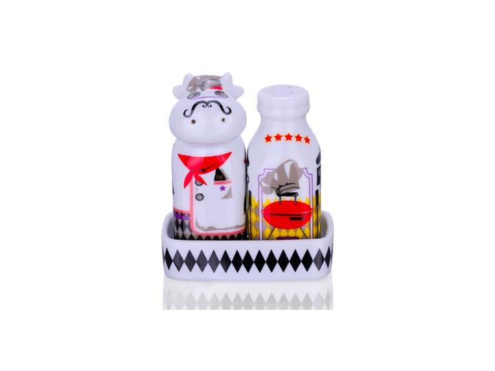 Zestaw solniczka i pieprzniczka - Królowie Grilla Ceramika Zestaw do przypraw Kolor Czerwony
