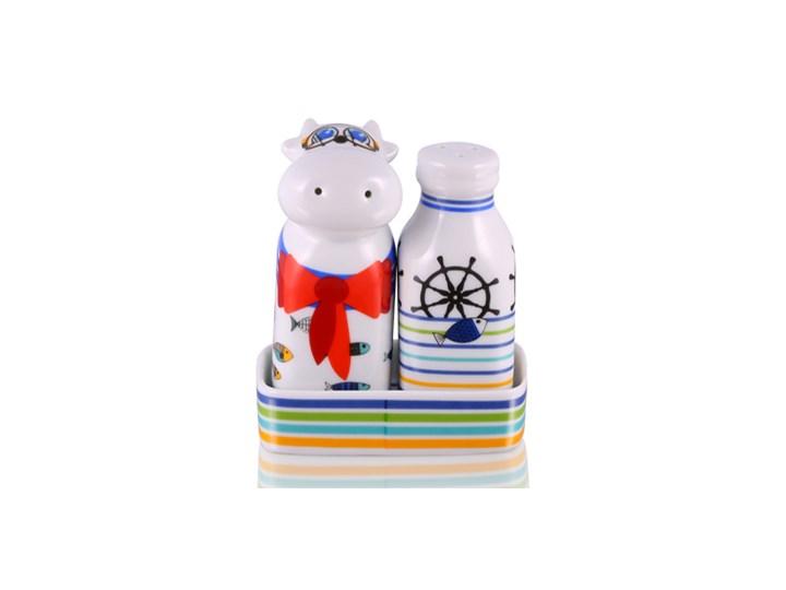 Zestaw solniczka i pieprzniczka - Marynarz Kategoria Przyprawniki Zestaw do przypraw Ceramika Kolor Wielokolorowy