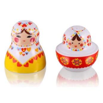 Zestaw solniczka i pieprzniczka - Matrioszka Baba