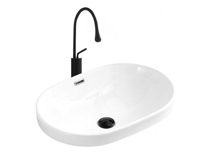 VELDMAN UMYWALKA WPUSZCZANA W BLAT VERA Ceramika Owalne Wpuszczane Szerokość 60 cm Kategoria Umywalki