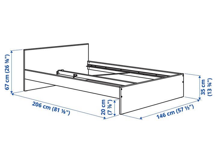 IKEA GURSKEN Zestaw mebli do sypialni 5 szt, jasnobeżowy, Szer. materaca: 140 cm Pomieszczenie Sypialnia