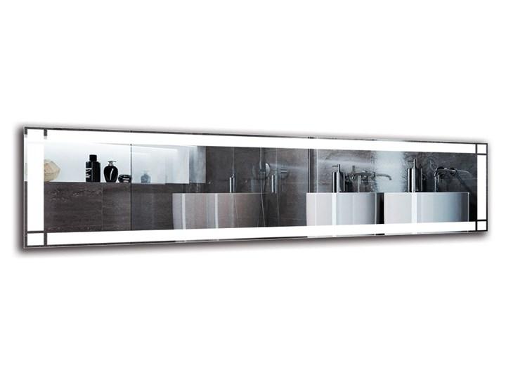 Lustro Łazienkowe - Model M1ZP-60 Ścienne Lustro podświetlane Prostokątne Pomieszczenie Łazienka Kolor Srebrny