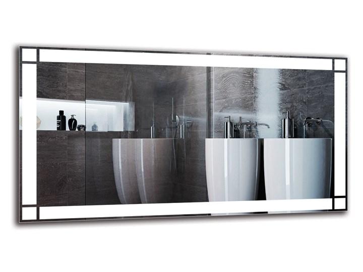 Lustro Łazienkowe - Model M1ZP-60 Kolor Srebrny Prostokątne Lustro podświetlane Ścienne Pomieszczenie Łazienka