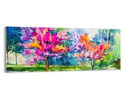 Obraz na szkle - Tęczowy ogród w wiosennym blasku