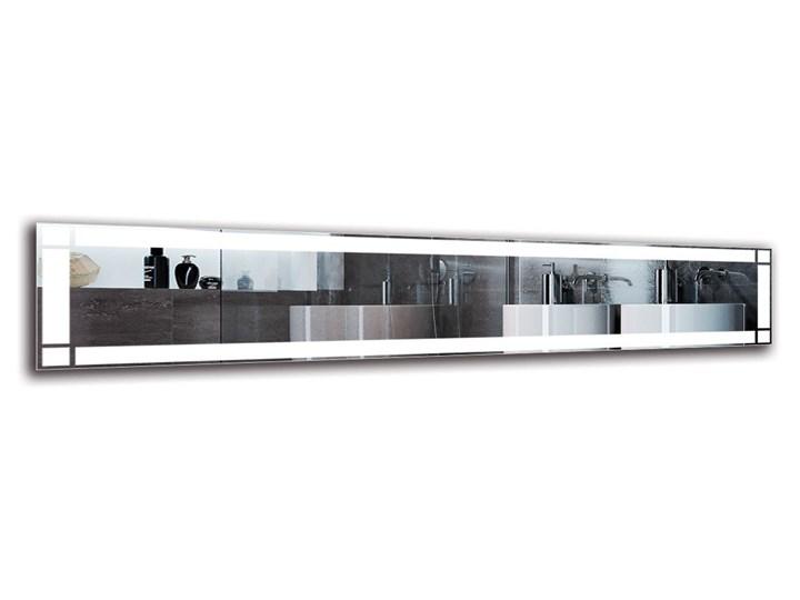 Lustro Łazienkowe - Model M1ZP-60 Lustro podświetlane Ścienne Prostokątne Kolor Srebrny Pomieszczenie Łazienka