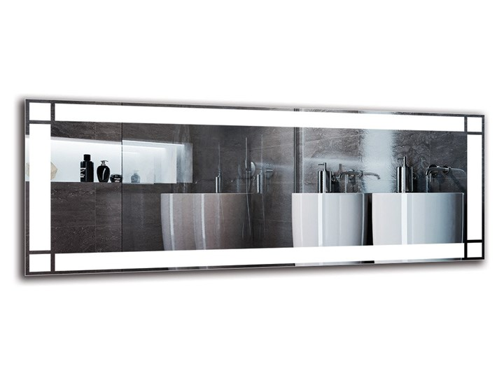 Lustro Łazienkowe - Model M1ZP-60 Lustro podświetlane Ścienne Pomieszczenie Łazienka Prostokątne Kolor Srebrny
