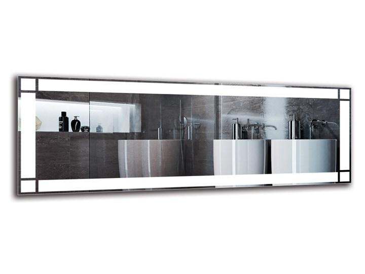 Lustro Łazienkowe - Model M1ZP-60 Prostokątne Ścienne Lustro podświetlane Pomieszczenie Łazienka