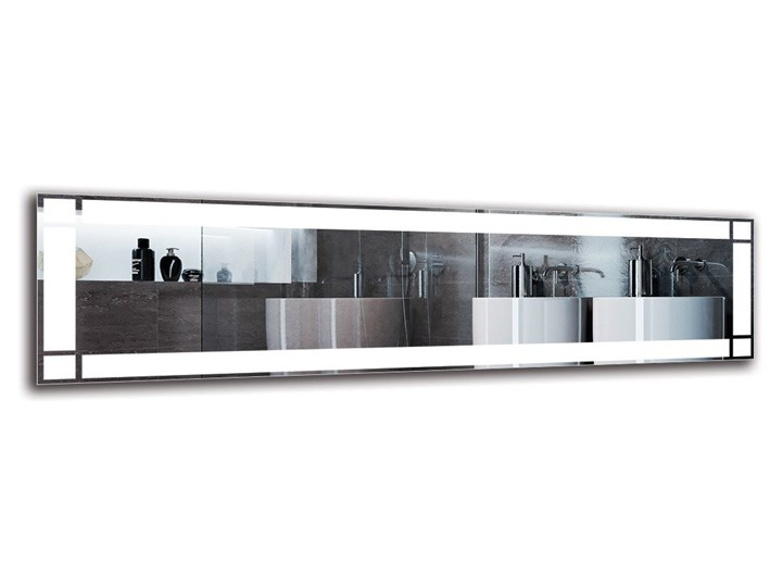 Lustro Łazienkowe - Model M1ZP-60 Ścienne Kolor Srebrny Lustro podświetlane Prostokątne Kategoria Lustra