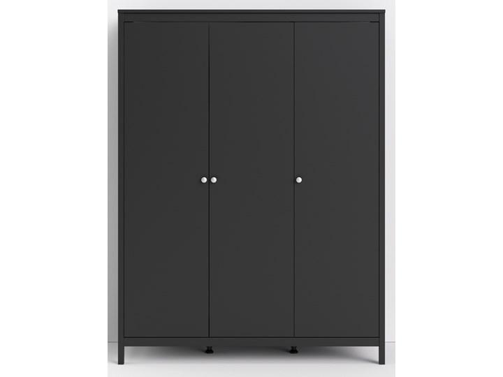 Trzydrzwiowa szafa ubraniowa w kolorze czarnym Madrid 3D Ilość drzwi Trzydrzwiowe Wysokość 199 cm Szerokość 150 cm Głębokość 58 cm Kategoria Szafy do garderoby