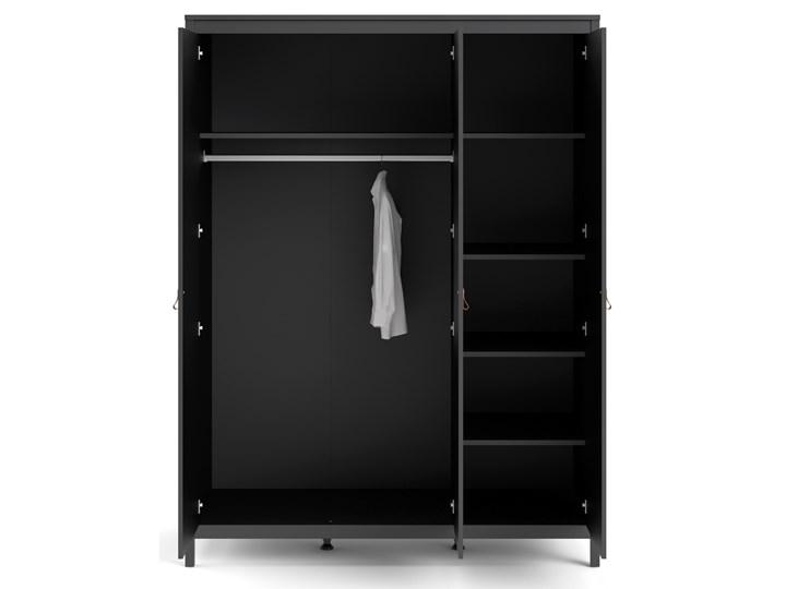 Trzydrzwiowa szafa ubraniowa w kolorze czarnym Madrid 3D Wysokość 199 cm Szerokość 150 cm Głębokość 58 cm Ilość drzwi Trzydrzwiowe