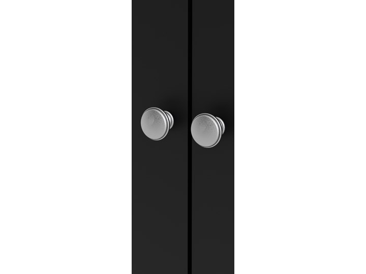 Trzydrzwiowa szafa ubraniowa w kolorze czarnym Madrid 3D Wysokość 199 cm Głębokość 58 cm Szerokość 150 cm Ilość drzwi Trzydrzwiowe