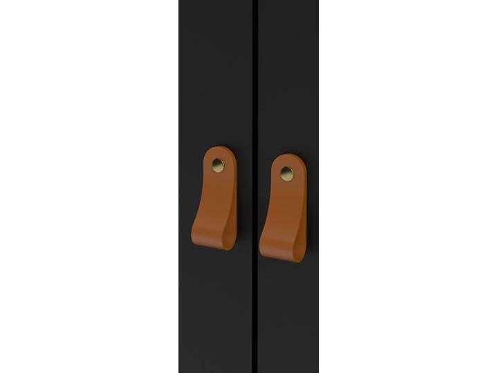 Trzydrzwiowa szafa ubraniowa w kolorze czarnym Madrid 3D Szerokość 150 cm Ilość drzwi Trzydrzwiowe Wysokość 199 cm Głębokość 58 cm Kategoria Szafy do garderoby