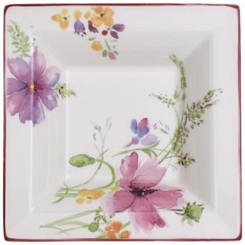 Prostokątna porcelanowa miska z motywem kwiatów Villeroy & Boch Mariefleur Gifts