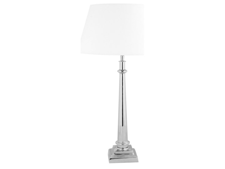 Ekskluzywna srebrna lampa na konsolę CUNEO Lampa z abażurem Kategoria Lampy stołowe