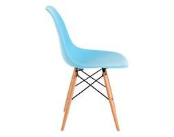 Krzesło P016W PP ocean blue, drewniane nogi DK-24261 + Transport juz od 8,90 zł