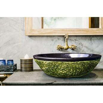 JUNGLE - nablatowa umywalka artystyczna ręcznie wykończona