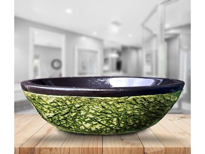 JUNGLE - nablatowa umywalka artystyczna ręcznie wykończona Ceramika Owalne Szerokość 60 cm Nablatowe Kategoria Umywalki