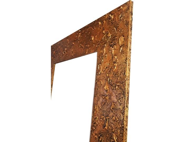 GOLD - duża artystyczna ręcznie wykończona rama do lustra 80x170cm Prostokątne Lustro z ramą Ścienne Pomieszczenie Łazienka