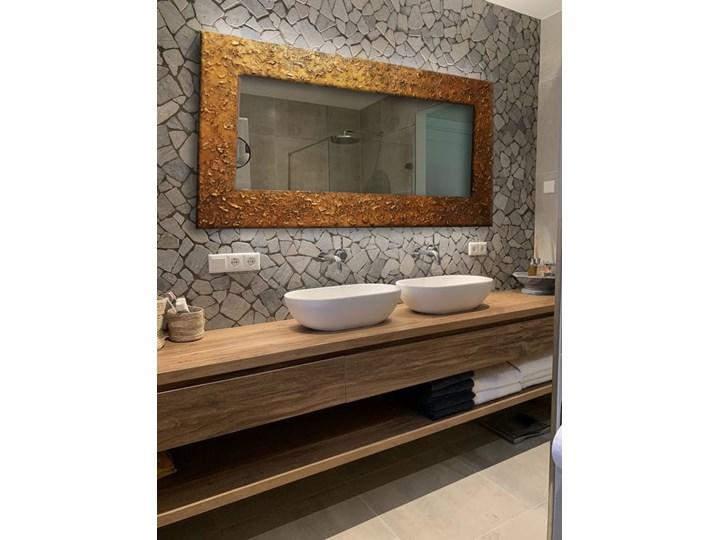 GOLD - duża artystyczna ręcznie wykończona rama do lustra 80x170cm Ścienne Lustro z ramą Prostokątne Kolor Brązowy Pomieszczenie Łazienka
