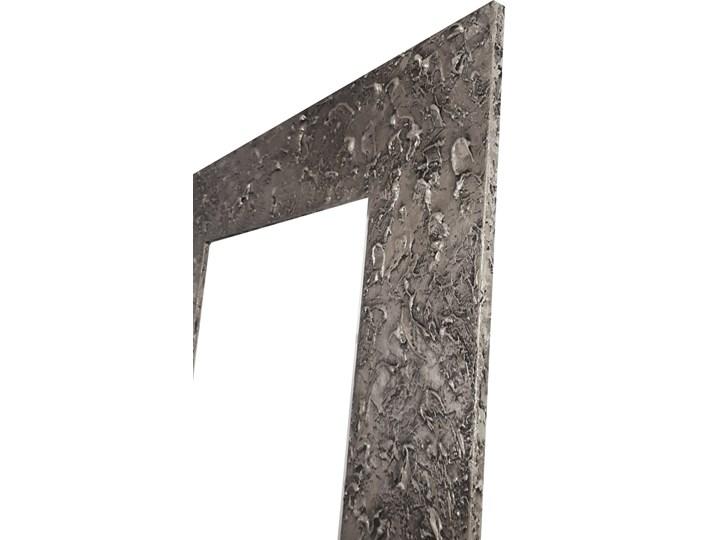 SILVER - duża artystyczna ręcznie wykończona rama do lustra 80x170cm Pomieszczenie Łazienka Ścienne Lustro z ramą Prostokątne Kolor Czarny