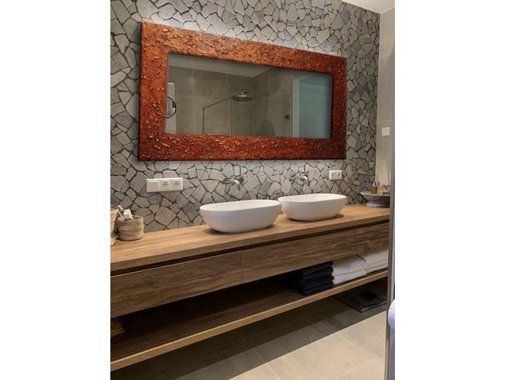COPPER - duża artystyczna ręcznie wykończona rama do lustra 80x170cm Lustro z ramą Ścienne Prostokątne Kolor Brązowy Pomieszczenie Łazienka