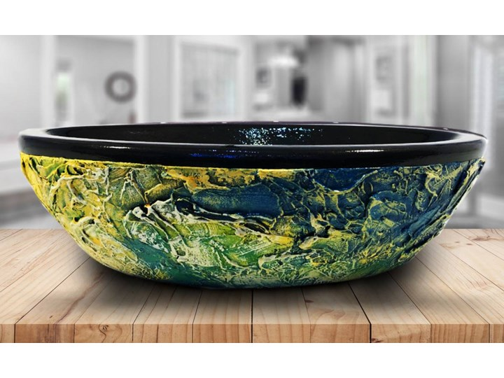 STILISTA - nablatowa umywalka artystyczna ręcznie wykończona Szerokość 60 cm Nablatowe Ceramika Owalne Kategoria Umywalki
