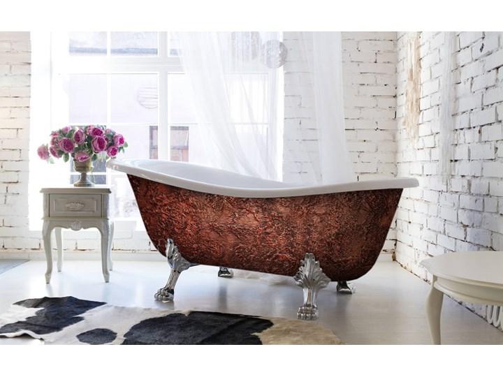 Glam Copperra - artystyczna ekskluzywna wanna ze strukturą Owalna Długość 190 cm Kategoria Wanny Akryl Wolnostojące Kolor Brązowy