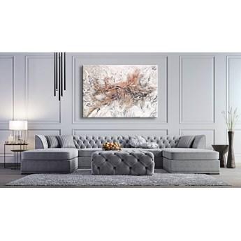 VELVET WHITE - Wielkoformatowy obraz na płótnie abstrakcyjny art&texture™ 100x150cm