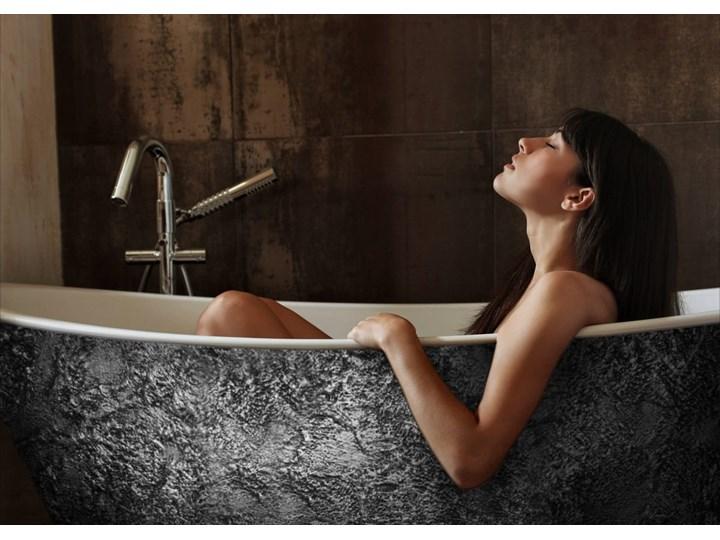 Silverra - artystyczna ekskluzywna wanna ze strukturą Akryl Wolnostojące Owalna Długość 170 cm Kategoria Wanny