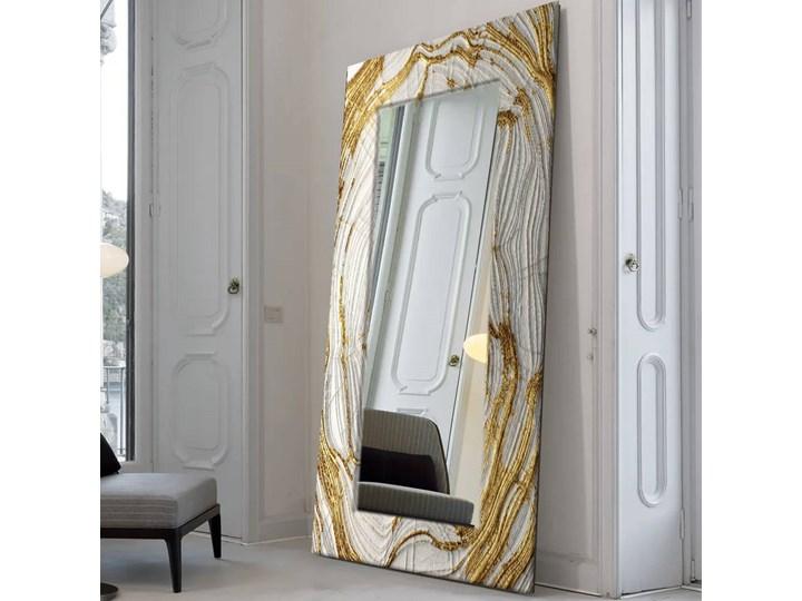 MIRROR GLAM- duża artystyczna ręcznie wykończona rama do lustra 80x170cm Prostokątne Kolor Złoty Lustro z ramą Ścienne Pomieszczenie Przedpokój
