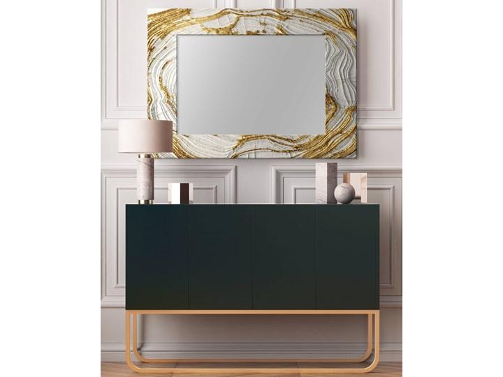 MIRROR GLAM- duża artystyczna ręcznie wykończona rama do lustra 80x170cm Lustro z ramą Kolor Czarny Ścienne Prostokątne Kolor Złoty