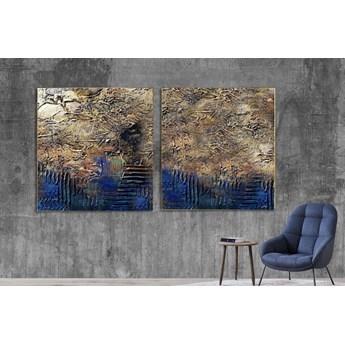 Industrialny dyptyk - Wielkoformatowy obraz na płótnie abstrakcyjny art&texture® 80x160cm