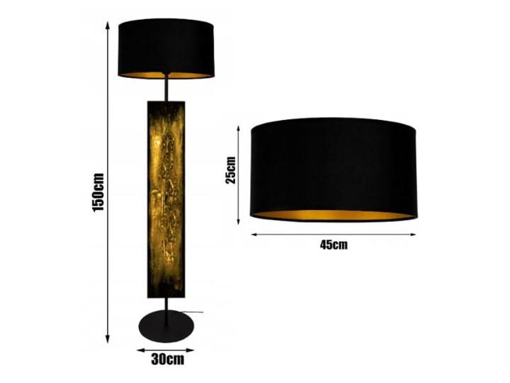 Złote zdobienia - ekskluzywna ręcznie rzeźbiona lampa podłogowa Metal Lampa inspirowana Styl Nowoczesny Lampa z abażurem Tkanina Tworzywo sztuczne Lampa dekoracyjna Kategoria Lampy podłogowe