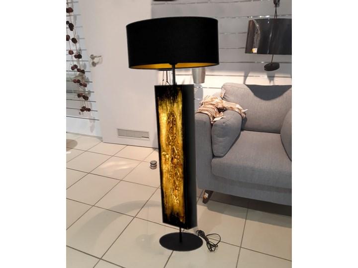 Złote zdobienia - ekskluzywna ręcznie rzeźbiona lampa podłogowa Tworzywo sztuczne Lampa inspirowana Lampa z abażurem Tkanina Kategoria Lampy podłogowe Metal Lampa dekoracyjna Styl Nowoczesny