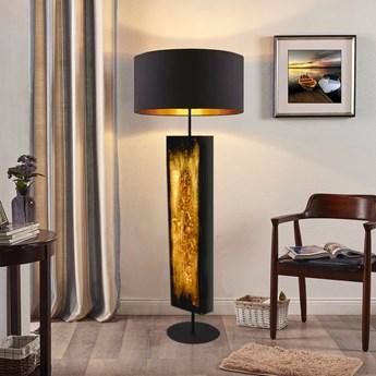 Złote zdobienia - ekskluzywna ręcznie rzeźbiona lampa podłogowa