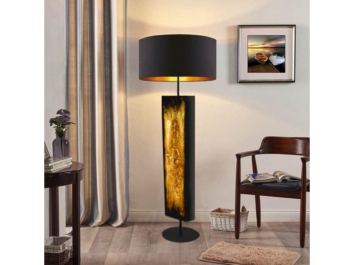 Złote zdobienia - ekskluzywna ręcznie rzeźbiona lampa podłogowa Metal Lampa dekoracyjna Styl Nowoczesny Lampa z abażurem Tkanina Lampa inspirowana Tworzywo sztuczne Kategoria Lampy podłogowe