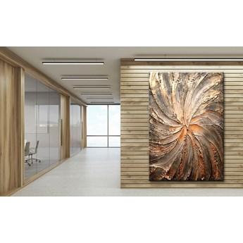 Miedziany wir - obraz na płótnie 100x150cm