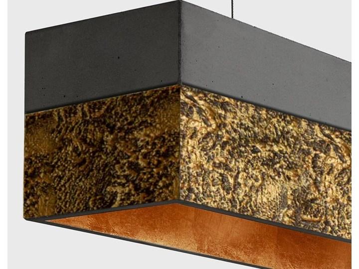 LA TEXTURA - ARTYSTYCZNA EKSKLUZYWNA LAMPA SUFITOWA DUŻA DO LOFTU Metal Tworzywo sztuczne Kolor Złoty