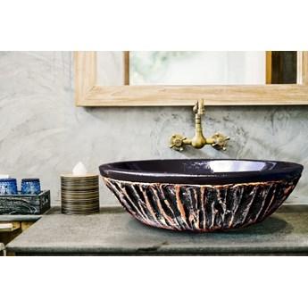 BLACK SHELL - nablatowa umywalka artystyczna ręcznie wykończona
